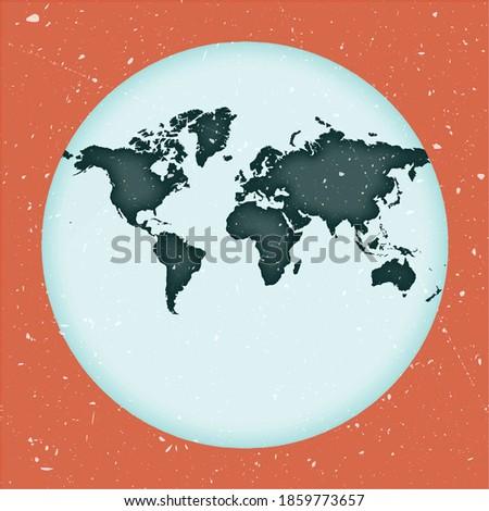 world map poster van der