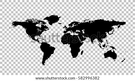 world map   stock vector