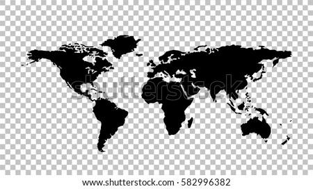 world map   stock vector