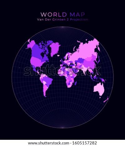 world map van der grinten ii