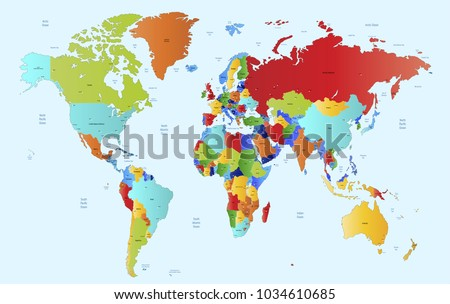 World map vector. #1034610685