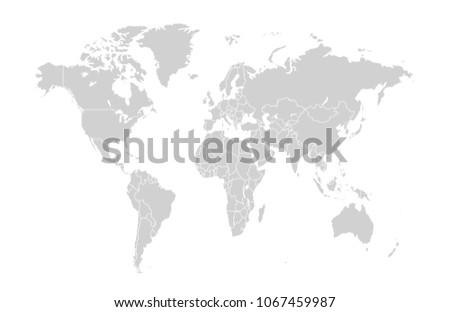 Plantilla de mapa mundial descargue grficos y vectores gratis world map vector gumiabroncs Gallery