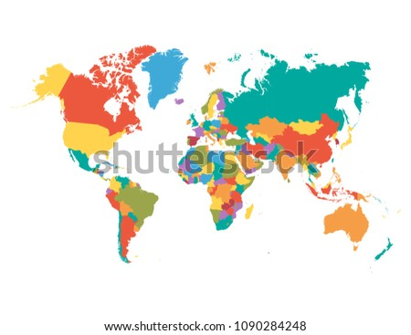 World map vector #1090284248