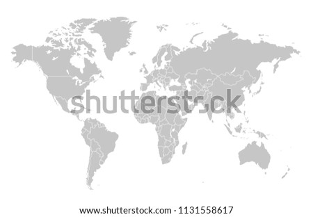 world map vector #1131558617
