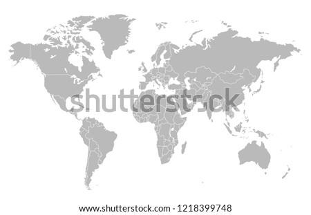 world map vector #1218399748
