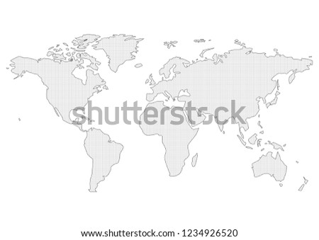 world map vector #1234926520