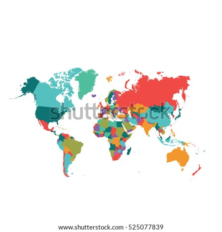 World map vector #525077839