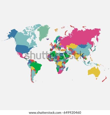 World map vector #649920460