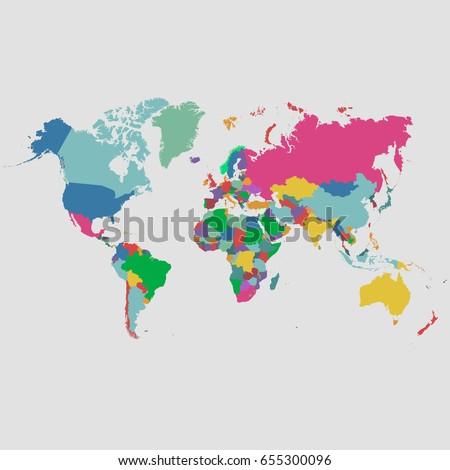 World map vector #655300096