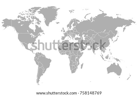 world map vector #758148769