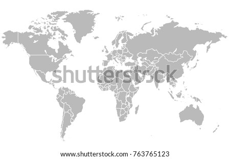 world map vector #763765123