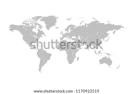 World map vector abstract illustration