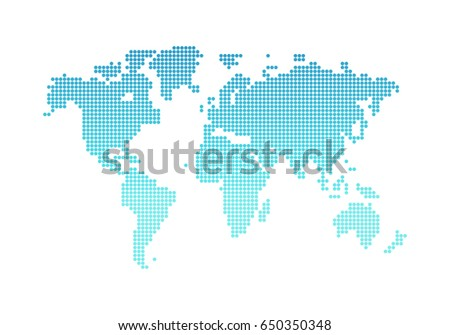 World Map Vector Background for website, design, network. Flat style