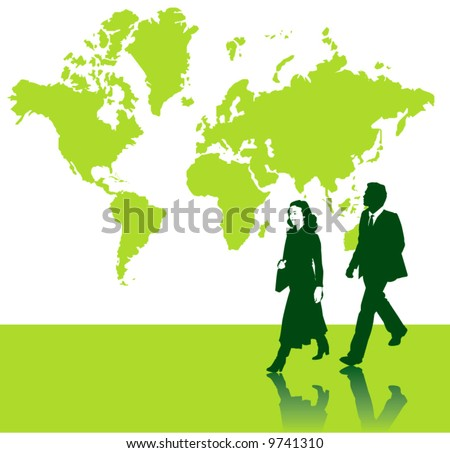 world map vector image. stock vector : World map