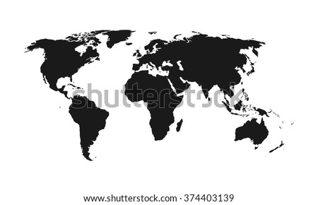 Map Of World Silhouette.World Map Silhouette Download Free Vector Art Stock Graphics Images