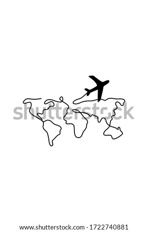 World map vector black isolated on white background. Logo or illustrations for travel. Ilustration of the world map stock photo