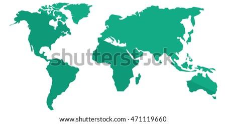 World map vector flat design illustration isolated on white world map vector flat design illustration isolated on white background gumiabroncs Gallery