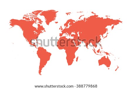 World map vector flat white #388779868