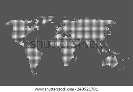 world map vector grey color
