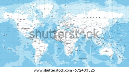 Worldmap continents free vector download free vector art stock world map vector high detailed illustration of worldmap gumiabroncs Images
