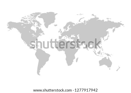 World map vector illustration isolated on white background.Vector.