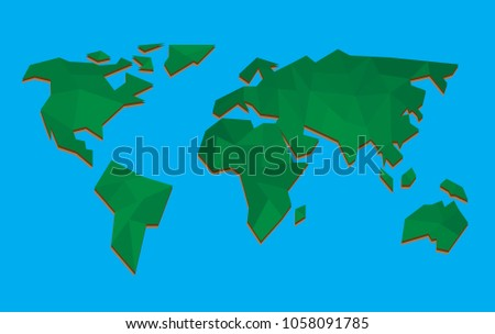 Mapa pintado de pases bajos vector descargue grficos y vectores world map vector illustration low poly gumiabroncs Image collections