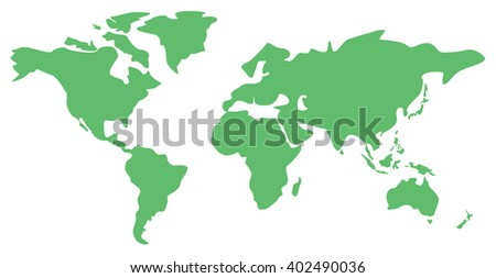 Green world map vector download free vector art stock graphics world map vector illustration of the world map isolated on white background world map gumiabroncs Images