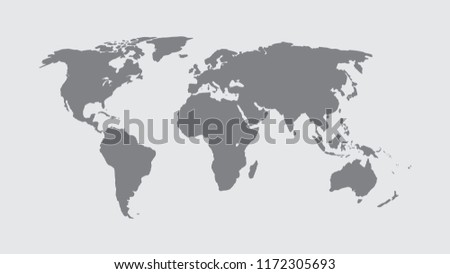 World Map Vector, Isolate on Blank Background, Flat Earth Map For Website, Annual Report, Infographics, World Map Illustration, Vector Illustration
