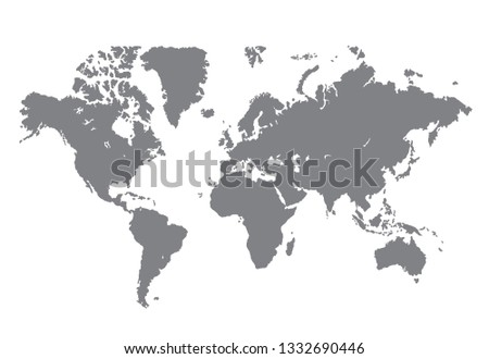 World map vector, isolated on white background #1332690446