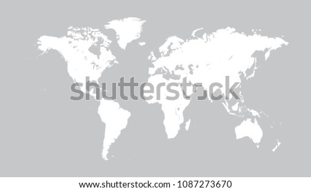 Worldmap silhouette free vector download free vector art stock world map vector isolated on white background flat earth gray similar template for web site gumiabroncs Choice Image