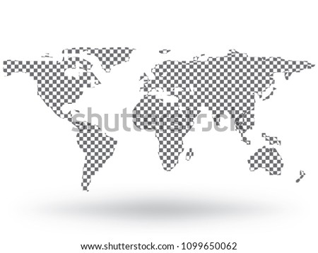 Worldmap silhouette free vector download free vector art stock world map vector isolated on white background flat earth gray similar template for web site gumiabroncs Image collections