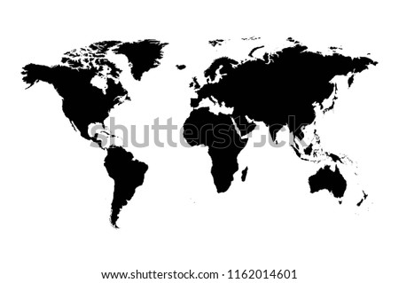 Worldmap silhouette free vector download free vector art stock world map vector isolated on white background flat earth gray template for web site gumiabroncs Choice Image