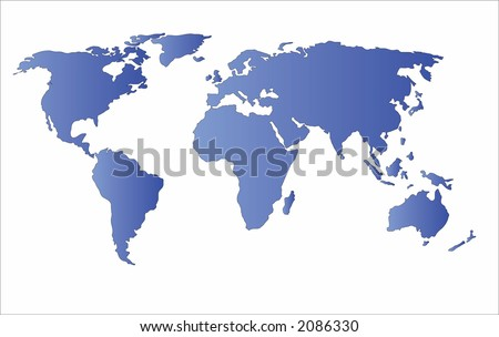 world map vector. stock vector : world map