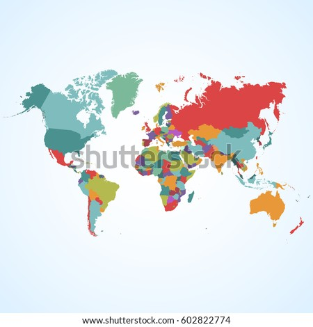World map vector on blue background #602822774