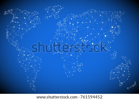 world map vector  polygon