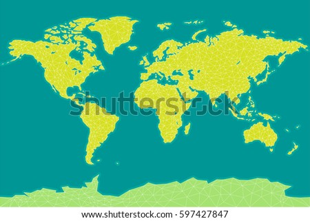 World map vector. Triangle world map