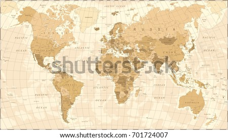 world map vintage vector...