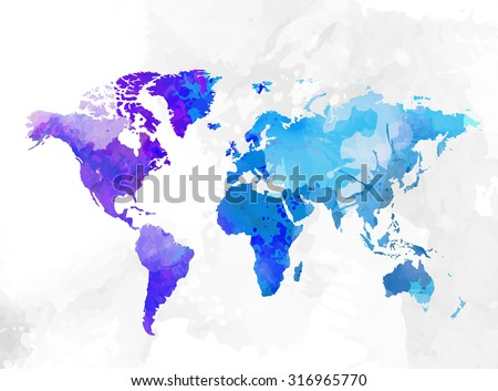 Free watercolor world map vector download free vector art stock world map watercolor background vector illustration gumiabroncs Choice Image