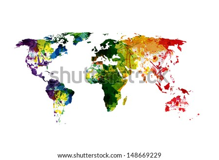 Free watercolor world map vector download free vector art stock world map watercolor easy editable gumiabroncs Choice Image