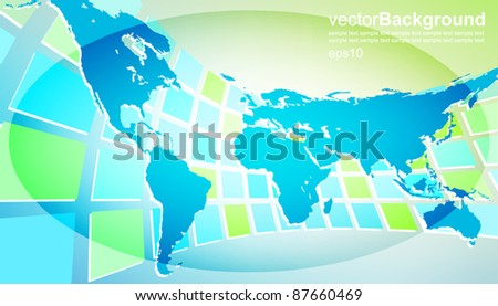 world map with abstract background