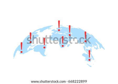 world map with abstract