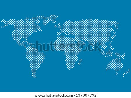 world map with all continents