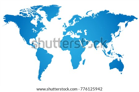 World map with angle in blue  shaded background