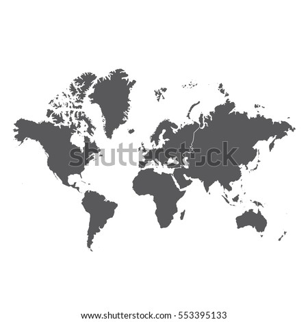 World map with Antarctica #553395133