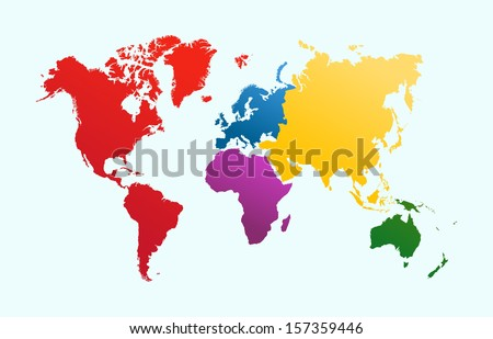 World Continents Map Vector Download Free Vector Art Stock - Continental map