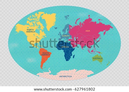 World continents map vector download free vector art stock world map with grid vector illustration gumiabroncs Image collections