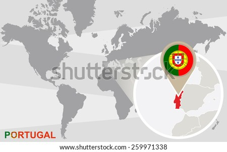 Portugal Map Infographic Download Free Vector Art Stock - Where is portugal in the world
