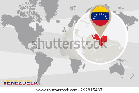 Venezuela map vector free vector art at vecteezy world map with magnified venezuela venezuela flag and map gumiabroncs Gallery