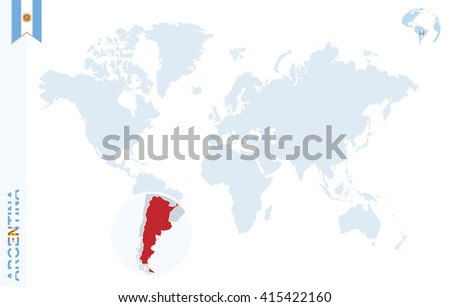 Free vector map of argentina free vector art at vecteezy world map with magnifying on argentina blue earth globe with argentina flag pin zoom gumiabroncs Images