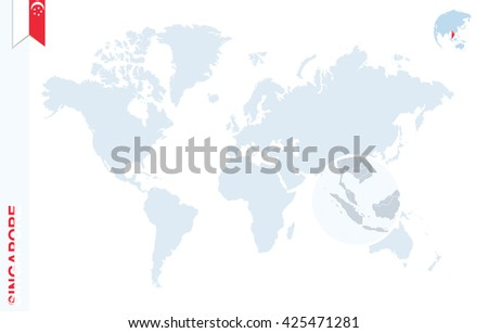 Singapur mapa infografa descargue grficos y vectores gratis world map with magnifying on singapore blue earth globe with singapore flag pin zoom gumiabroncs Image collections